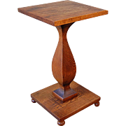 Early 1900's Sculptural Oak Side Table Plant Stand