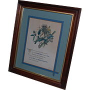King Henry 5th Shakespeare Quote on Botanical Print Lithograph
