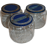 3 Duraglas Humi-Seal Humidor Glass Jars