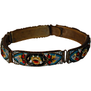 SALE Very Old Italian Micro Mosaic Floral Bracelet