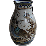 Signed Ken Edwards Pottery Studio Large Owl Pitcher Tonala el Palomar Mexico