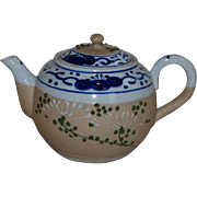 Blue Decorated Banko Ware Sharkskin Teapot