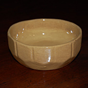 Vintage Yellow Ware Pudding Bowl Picket Fence Design