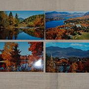 4 Vintage Lake Placid Photographic Postcards