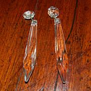 SALE 2 Prisms for Crystal Chandelier or candleholder
