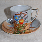 Lustre Ware Demi Tasse Cup and Saucer made in Japan