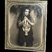 SOLD 1920s Freulich ~ Gladys Walton w/ Doll ~ Framed 8x10 Photo