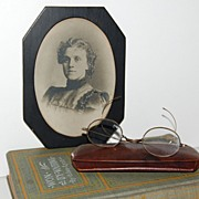SALE 1900s Hofmann Art Studio ~ Victorian Lady in Black Frame