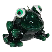 SALE Googly Eyed Green Wax Frog Candle