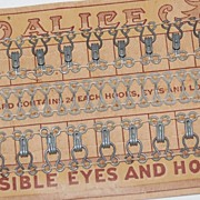 "SALE Victorian ""Invisible Eyes and Hooks"" on Original ALICE Card"