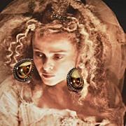 SALE 1980s Premier Designs ~ Gold/Silvertone Teardrop Clip Earrings