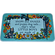 1971 Yorkraft ~ Snips & Snails & Puppy Dog Tails...Wall Plaque