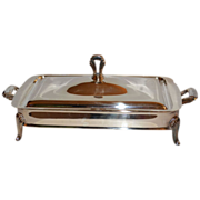SALE Art Deco-Inspired 2-Pc Silverplated Serving Dish