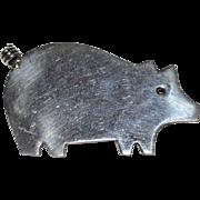 SALE Anne Harvey ~ Sterling Silver Pig Figural Brooch/Pin