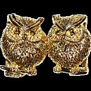 SALE 1960/70s Textured Owl Belt Buckle