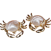 SALE Rhinestone Crab Scatter Pins