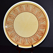"1970s Taylor Smith & Taylor ~ 12"" Honey Gold Chop Plate"