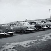 SALE 1953 Car Parking Lot at Pentagon B/W Photo