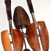SALE 3 Vintage Industrial Wood Shoe Molds