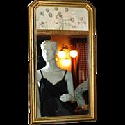 SALE 1925 Black Americana Children Wood Frame Mirror
