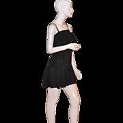 Fannye ~ Black Butterfly Flutter Slim Strap Dress