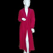 SALE Shadowline ~ Long Fuchsia Purple Belted Robe