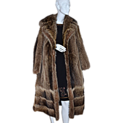 SALE 1960s Donald Brooks Boutique ~ Long Mink Fur Coat