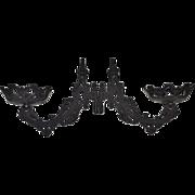 SALE Set of 2 Black Cast Iron Gothic Architectural Hardware