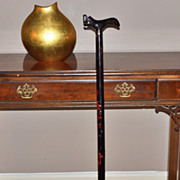 SALE Asian-Inspired Dragon Black Wood Cane