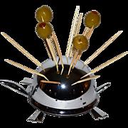 SALE Irvinware ~ Chrome Mock Turtle Figural Appetizer Holder