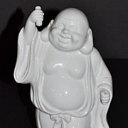 Sanford ~ White Porcelain Happy Buddha Sculpture