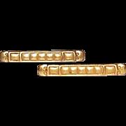 SALE Antique Arts & Crafts ~ Aesthetic Brass Lingerie Pin Set