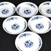 Lennold ~ Set of 6 Blue Meissen Fruit/Dessert/Sauce Bowls