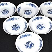 SALE Lennold ~ Set of 6 Blue Meissen Fruit/Dessert/Sauce Bowls