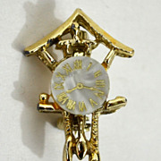 SALE Mother of Pearl Cuckoo Clock Scatter Pin