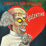 "Hallmark ~ ""I Want To Hold Your Hand, Valentine"" Gothic Valentine's Day Card"