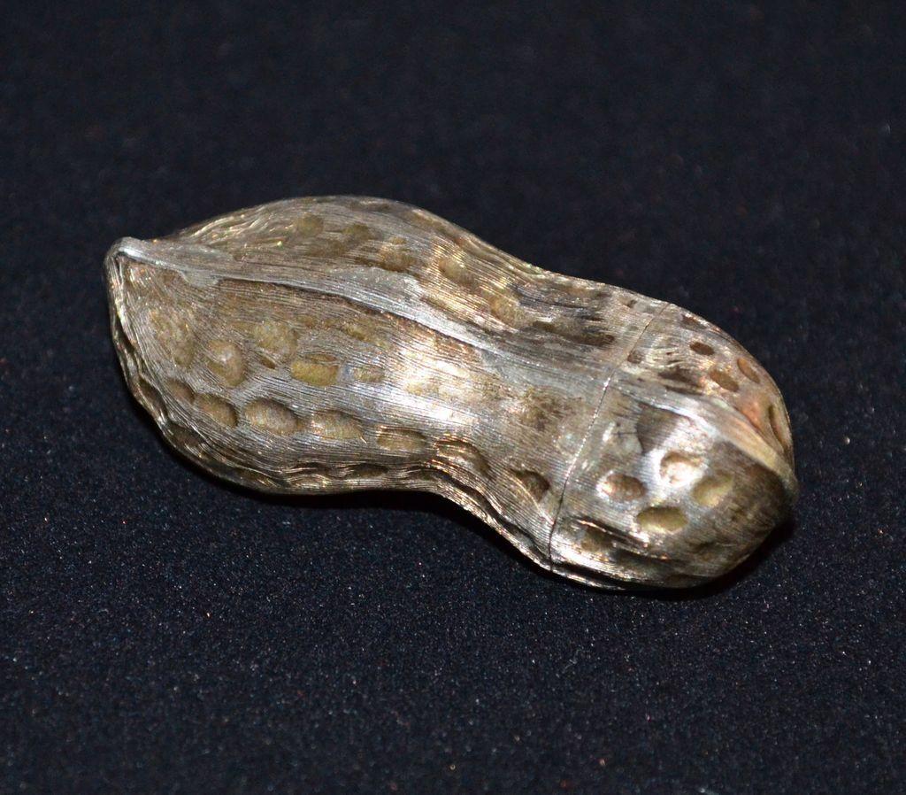 Taxco Sterling Silver Peanut Pillbox