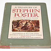 SOLD 1946 Treasury of Stephen Foster Hardcover Songbook w/ Dustjacket