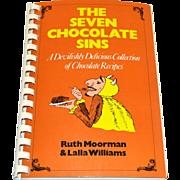 SALE 1993 The Seven Chocolate Sins ~ Spiral Bound Cookbook ~ Mint