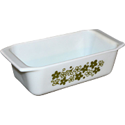 SALE 1970s Pyrex Crazy Daisy or Spring Blossom Bread Loaf Pan