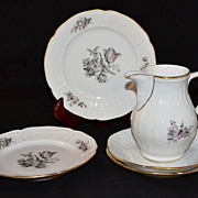 SALE Rosenthal Sanssouci ~ Grey Rose ~ 5-Pc China Set