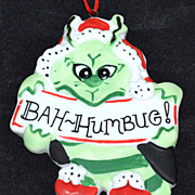 Chris Graham Mecham ~ Bah-Humbug Grinch Ornament