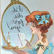"SALE 1911 ""I'll Die For You"" Embossed Color Postcard"