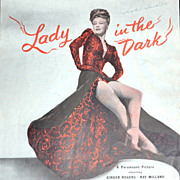 SALE 1943 'Lady in the Dark' Ginger Rogers Sheet Music