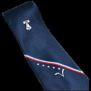 SALE 1976 Peter Val Preda ~ Imperial Potentate Shriner's Navy Blue Tie
