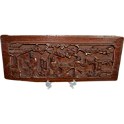 SALE Antique Asian Wood Panel Architectural Salvage