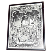 SOLD 1979 Halloween Party Promotional Art Poster by John Findley