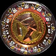 SALE Queen Nefertiti Mixed Metal Egyptian Souvenir Wall Plate