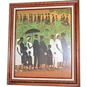 Large 'Funeral Procession' by Ellis Wilson Framed Giclee Art Reproduction