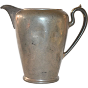 SALE PENDING Circa 1900s Royal Metal Manufacturing Company Large Solid Pewter Pitcher